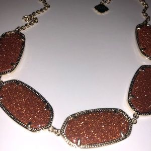 Kendra Scott Rust goldstone Necklace